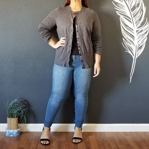 Lane Bryant Grey Cardigan